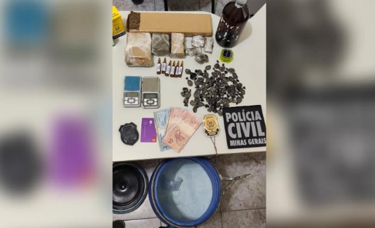 Polícia Civil estoura laboratório de refino e distribuição de drogas em Sete Lagoas